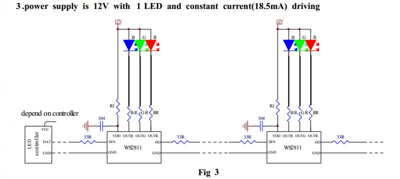 choosing a pixel voltage  5v vs 12v