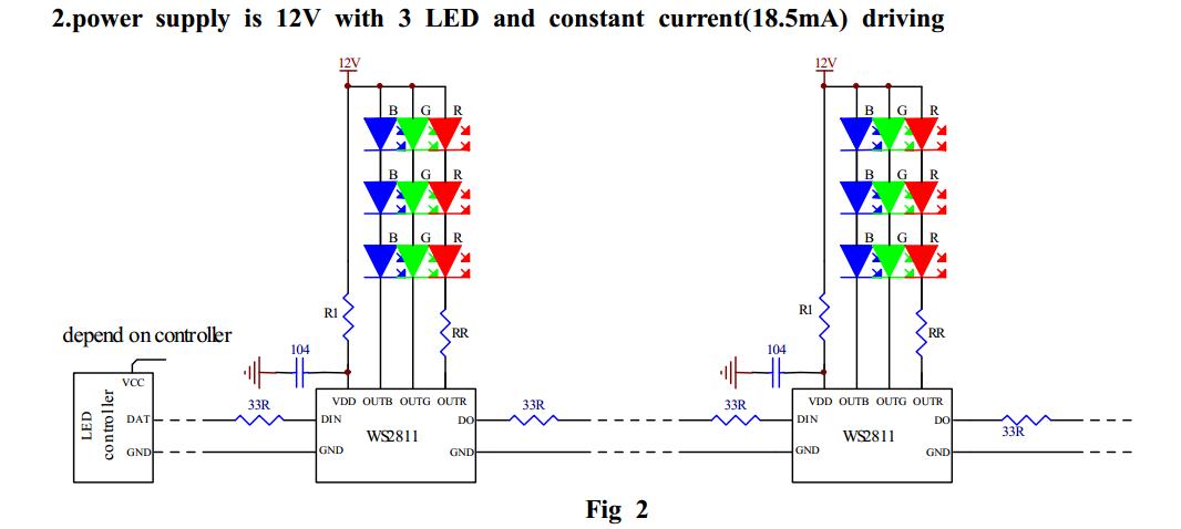 WS2811 12V 3LED choosing a pixel voltage 5v vs 12v doityourselfchristmas com ws2811 wiring diagram at crackthecode.co